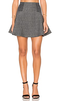 Alice + Olivia Elsie Skirt in Charcoal