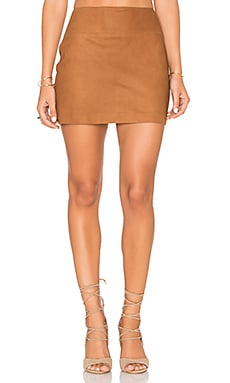 Sophya Suede Mini Skirt in Tobacco