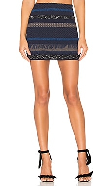 Elana Mini Skirt in Blue Multi