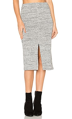 Spiga Slit Skirt in Gray