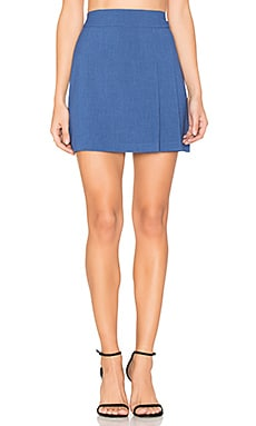 Bianka Side Pleat Mini Skirt in Kobaltblau