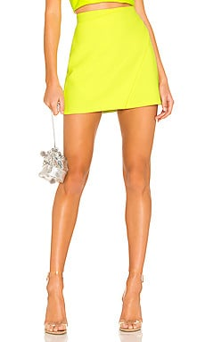 Shaylee Wrap Mini Skirt Alice + Olivia $225 BEST SELLER