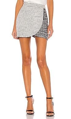 Lennon Side Zip Mini Skirt Alice + Olivia $330
