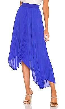 Koryn Asymmetrical Pleated Skirt Alice + Olivia $229