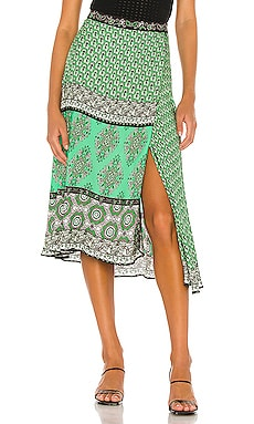 Nanette Mock Wrap Midi Skirt Alice + Olivia $350 BEST SELLER
