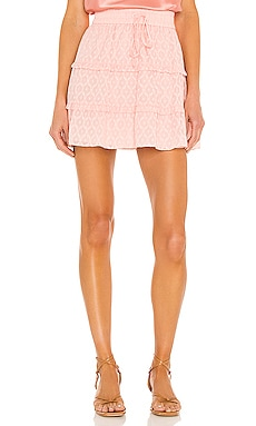 Vinita Drawstring Ruffle Panel Skirt Alice + Olivia $275