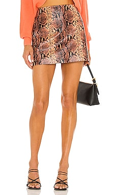 Elana Vegan Leather Skirt Alice + Olivia $195