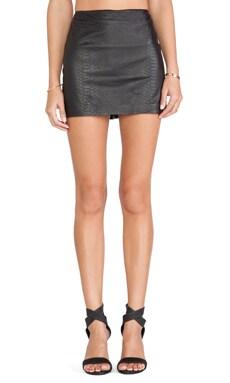 Neville Leather Mini Skirt