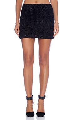 Alice + Olivia Elena Mini Skirt in Black