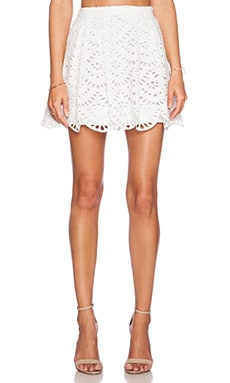 Alice + Olivia Connor Skirt in White