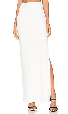 Alice + Olivia Misha Side Slit Skirt in Cream