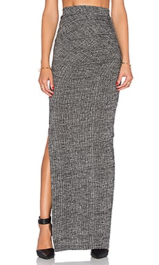 Alice + Olivia Octavia Ruched Maxi Skirt in Grey Multi