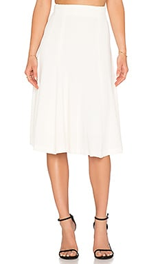 Alice + Olivia Kimi Fit & Flare Skirt in Cream