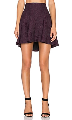 Alice + Olivia Sibel Fit and Flare Skirt in Plum