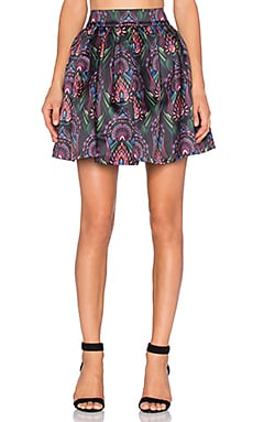 Alice + Olivia Stora Pleated Pouf Skirt in Ombre Deco