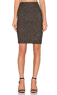 Alice + Olivia Ramos Embellished Skirt in Army