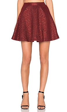 Alice + Olivia Blaise Skirt in Red Multi