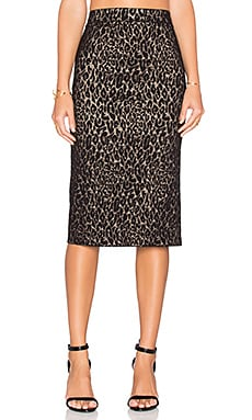 Alice + Olivia Bobbi Skirt in Black & Gold