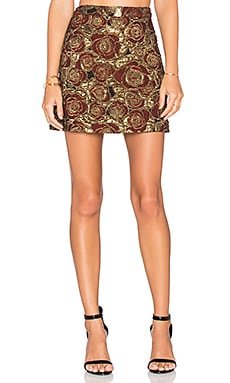 Alice + Olivia Riley Skirt in Gold & Red