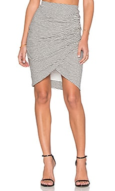 Alice + Olivia Arminda Skirt in Black & Off White