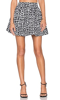 Alice + Olivia Fizer Skirt in Black & White