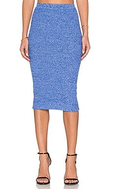 Alice + Olivia Morena Skirt in Blue & White