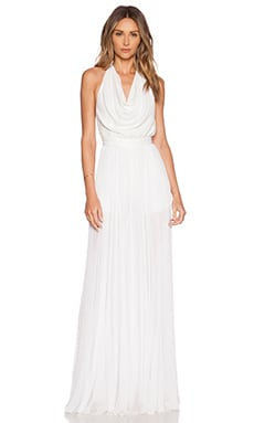 Alice + Olivia Lupita Halter Jumpsuit in White