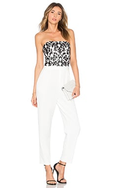 Alice + Olivia Jeri Jumpsuit in Off White & Black