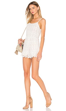 Cassia Lace Romper in Ivory & Natural
