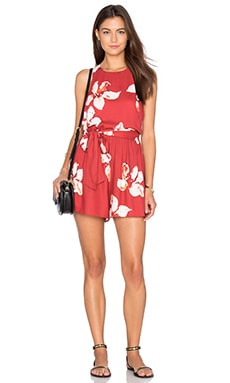 Mattie Romper in Summer Lily