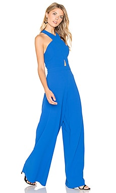 Trinity Cross Front Jumpsuit in Cobalt