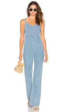 Cristal Jumpsuit in Light Chambray