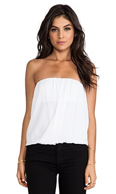 Alice + Olivia Carmela Draped Tube Top in White