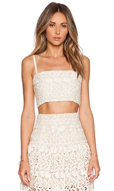 Alice + Olivia Marisol Bustier in Cream & Natural
