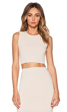 Alice + Olivia Crop Tank in Nude