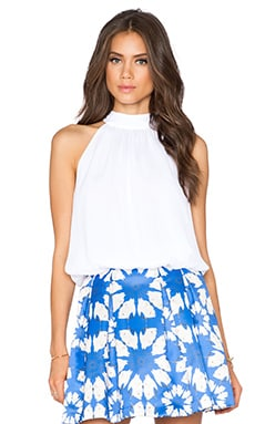 Alice + Olivia Maris Halter Top in White