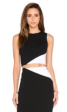 Cathleen Crop Top en Black & White