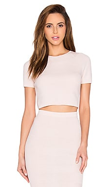 Alice + Olivia Solange Crop Top in Light Pink