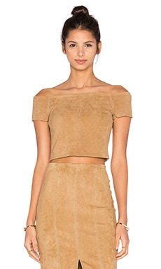 Alice + Olivia Gracelyn Top in Tan