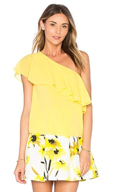 Alice + Olivia Izidora Top in Lemon