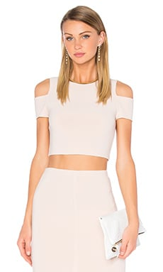 Vicki Cold Shoulder Top en Pale Nude