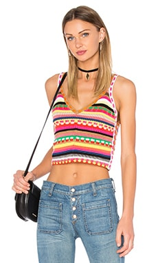 Sandrine Crochet Crop Top in Multi