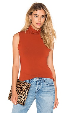 Alice + Olivia Farley Turtleneck Tank in Copper