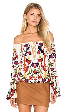 Naya Embroidered Peasant Top