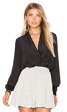 Alice + Olivia Elisha Top in Black