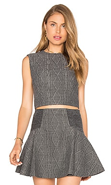 Alice + Olivia Kylnn Tank in Charcoal