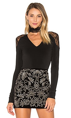 Nancey Lace Bodysuit in Black