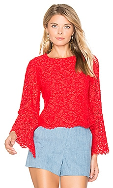 Pasha Crop Top in Poppy
