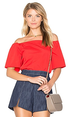 Christy Off Shoulder Top in Poppy