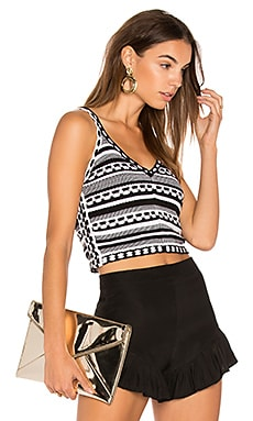 Sandrine Crop Tank in Black & White
